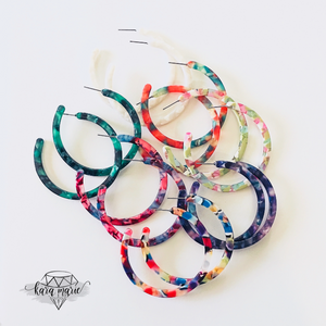 Hoop Earring - Large - Multiple Colors! - KaraMarie Boutique