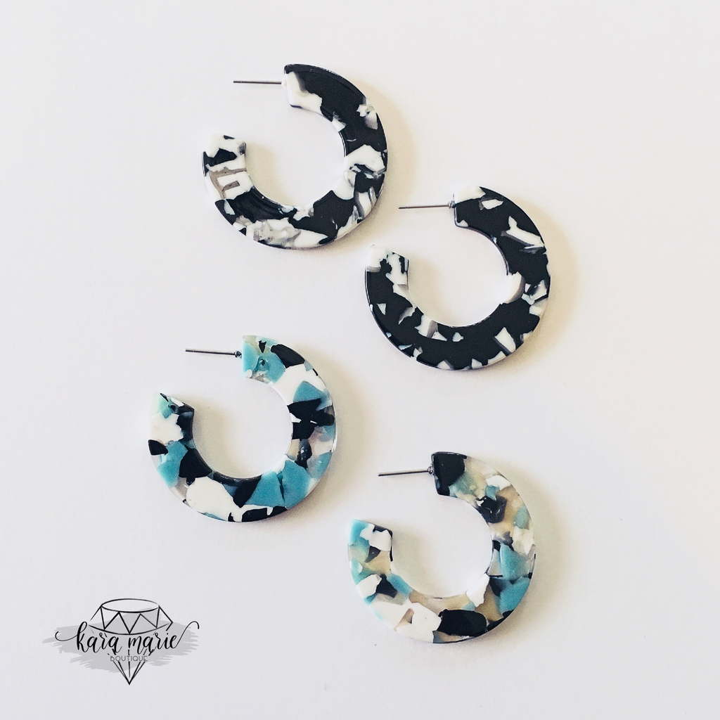 Hoop Earring - Medium - Multiple Colors! - KaraMarie Boutique