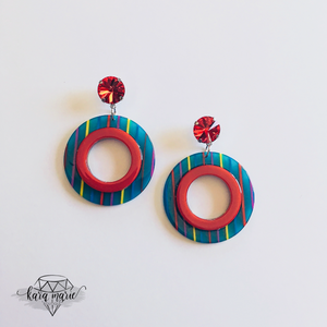 Red Rainbow Earrings - KaraMarie Boutique