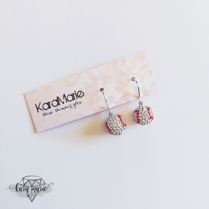 Baseball Earrings! - KaraMarie Boutique