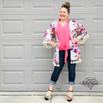Load image into Gallery viewer, Floral Print Tassel Kimono! Multiple Colors! - KaraMarie Boutique