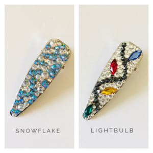 Holiday Sparkly Wide Hair Clip - KaraMarie Exclusive!