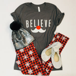 Snowflake Buffalo Plaid Leggings