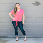Load image into Gallery viewer, Short Sleeve Button Down Tie Front Top! Multiple Colors! - KaraMarie Boutique