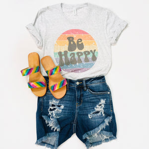 Be Happy Graphic Tee - KaraMarie Boutique