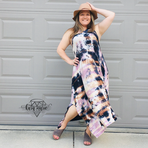 Ocean Dreams Tie Dye Sleeveless Dress! Multiple Colors! - KaraMarie Boutique
