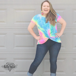 Load image into Gallery viewer, Cotton Candy Twist Top - KaraMarie Boutique