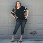 Load image into Gallery viewer, Ruffle Sleeve Leopard Top - KaraMarie Boutique