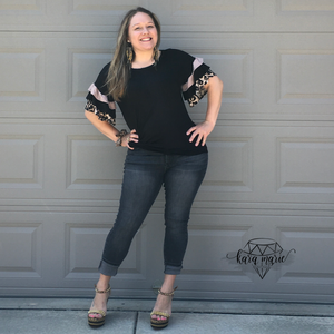 Ruffle Sleeve Leopard Top - KaraMarie Boutique
