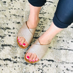 Load image into Gallery viewer, Slide On Sandals - Rose Gold - KaraMarie Boutique