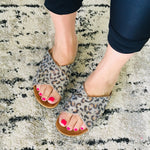 Load image into Gallery viewer, Slide On Sandals - Sparkly Leopard - KaraMarie Boutique