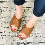 Load image into Gallery viewer, Slide On Sandals - Cognac - KaraMarie Boutique