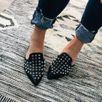 Load image into Gallery viewer, Pointy Stud Mules