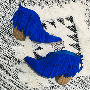 All That Fringe Cutout Booties
