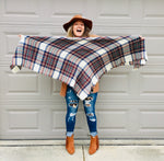 Load image into Gallery viewer, Plaid Blanket Scarf