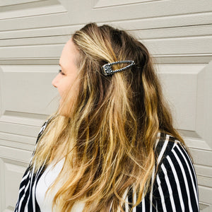 SPOOKY! Sparkly Wide OPEN MIDDLE Hair Clip - KaraMarie Exclusive! Multiple Colors!