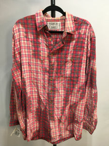 XL Bleached Vintage Flannel - One of a Kind - Franklin Flannel - XL