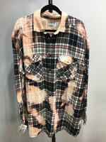 Load image into Gallery viewer, 2XL Bleached Vintage Flannel - One of a Kind - Franklin Flannel - 2XL