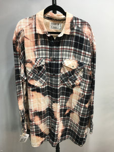 2XL Bleached Vintage Flannel - One of a Kind - Franklin Flannel - 2XL