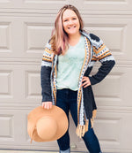 Load image into Gallery viewer, Aztec Cardigan with Fringe