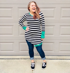 Everyday Striped Contrast Top