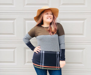 New Thoughts Plaid Tunic