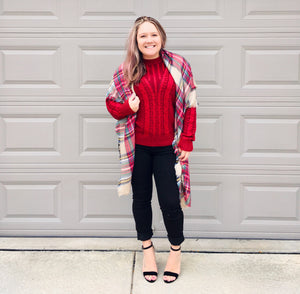 Pretty In Ruby Sweater
