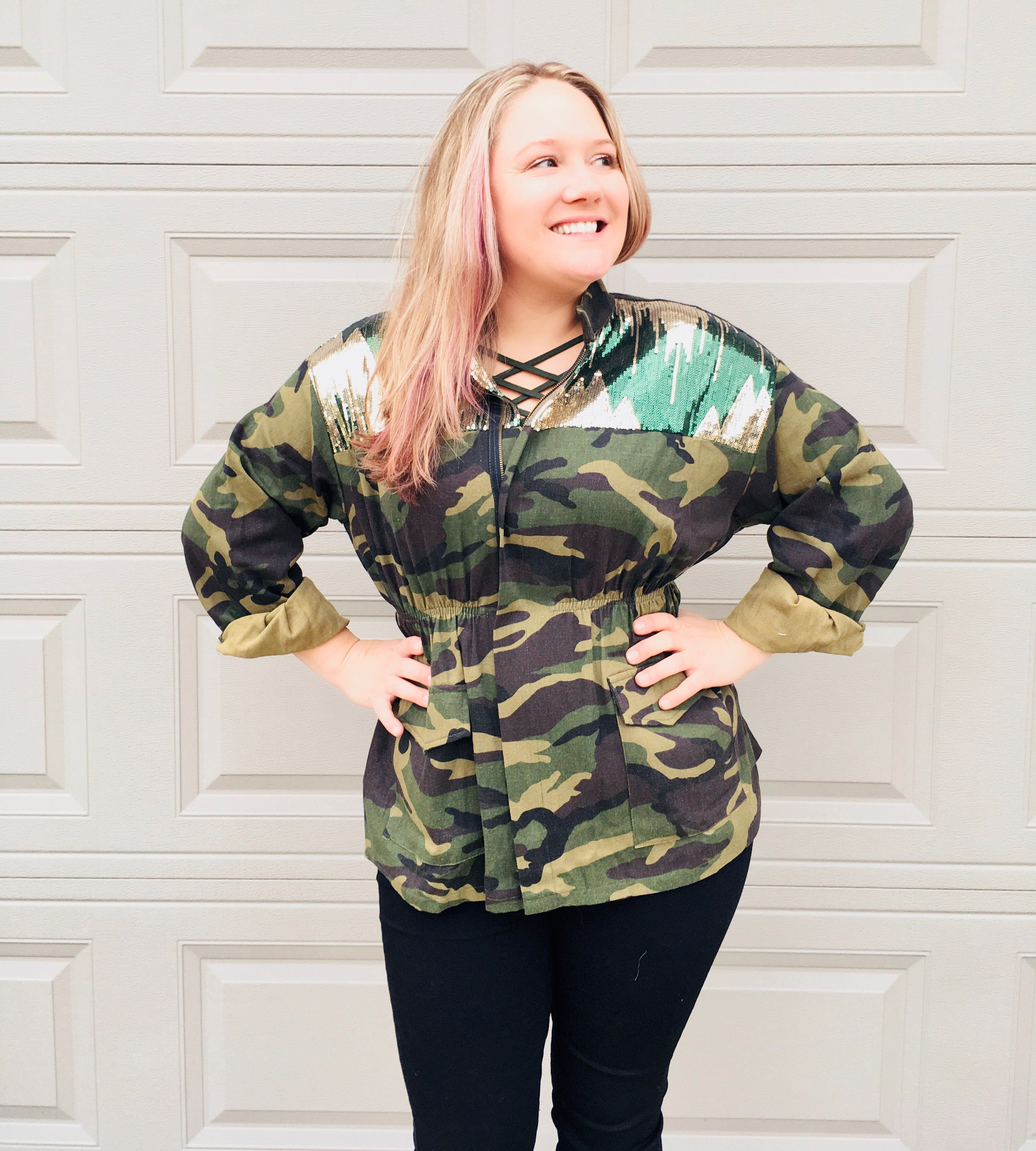 Can You See Me Camo Utility Jacket