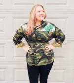 Load image into Gallery viewer, Can You See Me Camo Utility Jacket
