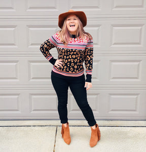 Animal Style Leopard Sweater