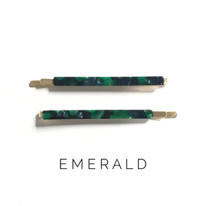 Emerald Bobby Pins - KaraMarie Boutique