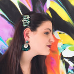 Load image into Gallery viewer, Green Marble Earrings - KaraMarie Boutique