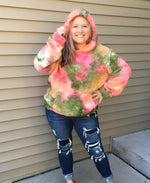 Load image into Gallery viewer, Sherpa Tie Dye Pullover Hoodie