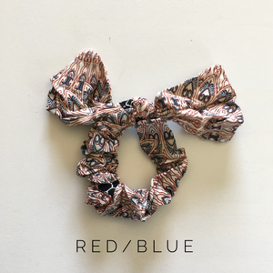 Boho Scrunchies with Bow - Multiple Colors! - KaraMarie Boutique