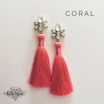 Load image into Gallery viewer, Duchess Tassel Earrings - Multiple Colors! - KaraMarie Boutique