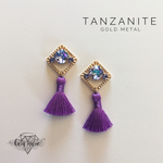 Load image into Gallery viewer, Diamond Tassel Earrings - Multiple Colors! - KaraMarie Boutique