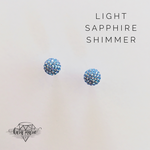 Load image into Gallery viewer, Sparkle Ball Post Earrings - TWO Sizes! Multiple Colors! - KaraMarie Boutique