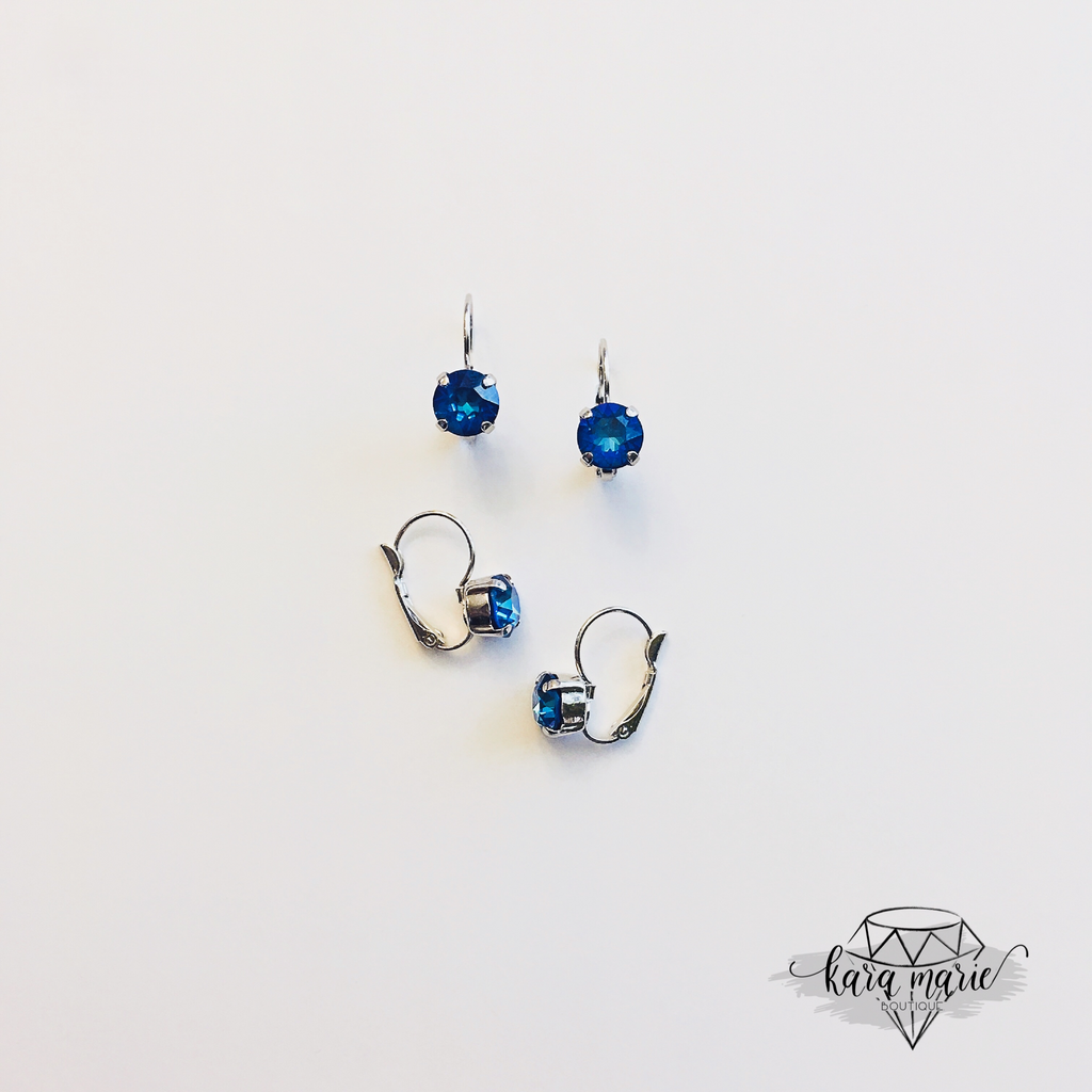 8mm Crystal Drop Earring - Multiple Colors! - KaraMarie Boutique