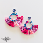 Load image into Gallery viewer, Berry Fun Fringe Earrings - KaraMarie Boutique