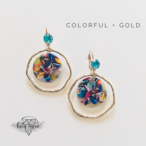 Circle Swing Earrings - Multiple Colors! - KaraMarie Boutique