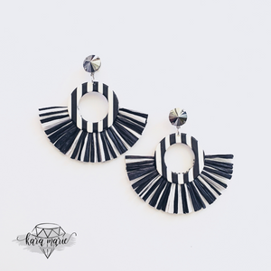 Beetlejuice Crystal Fringe Earrings - KaraMarie Boutique