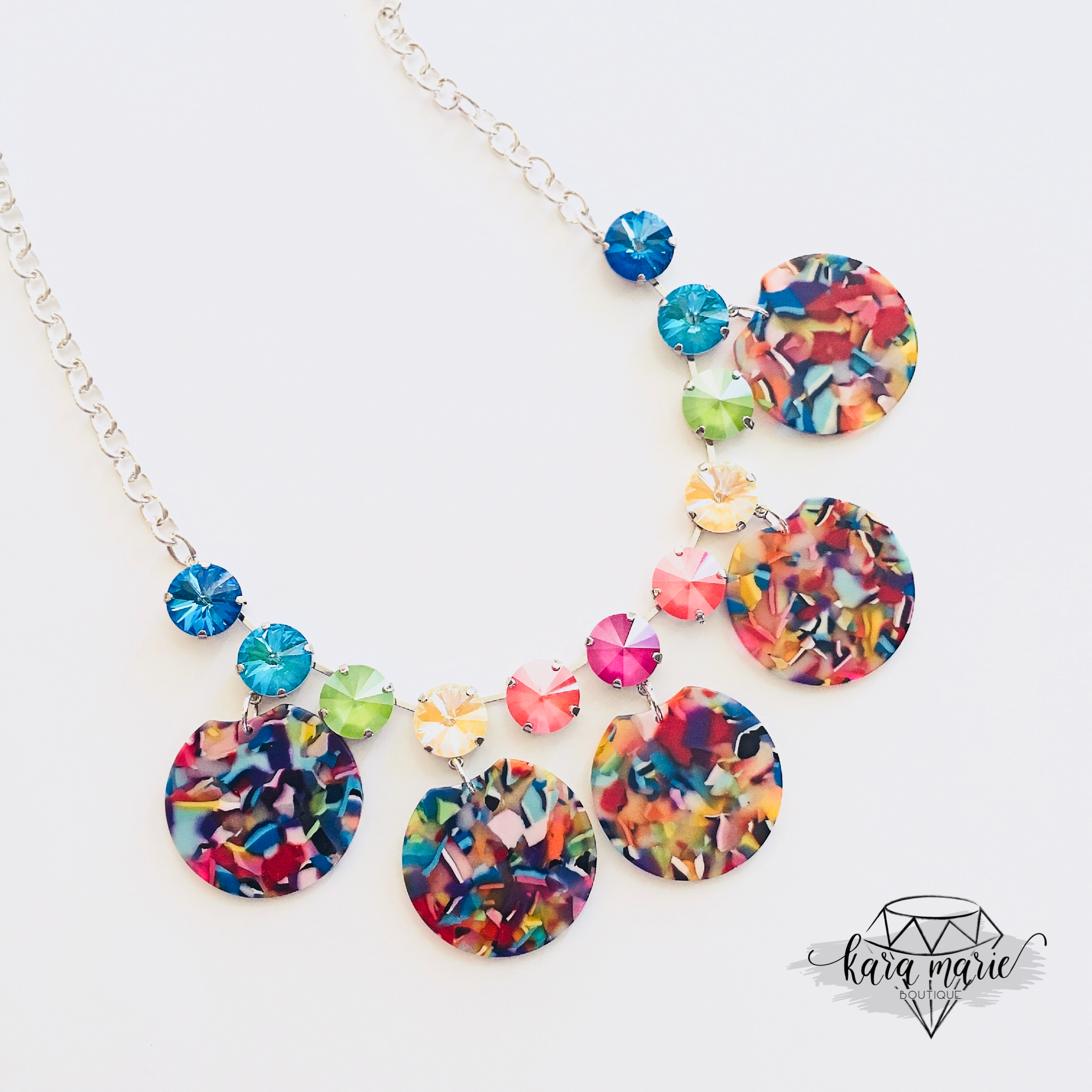Rainbow Statement Necklace - KaraMarie Boutique