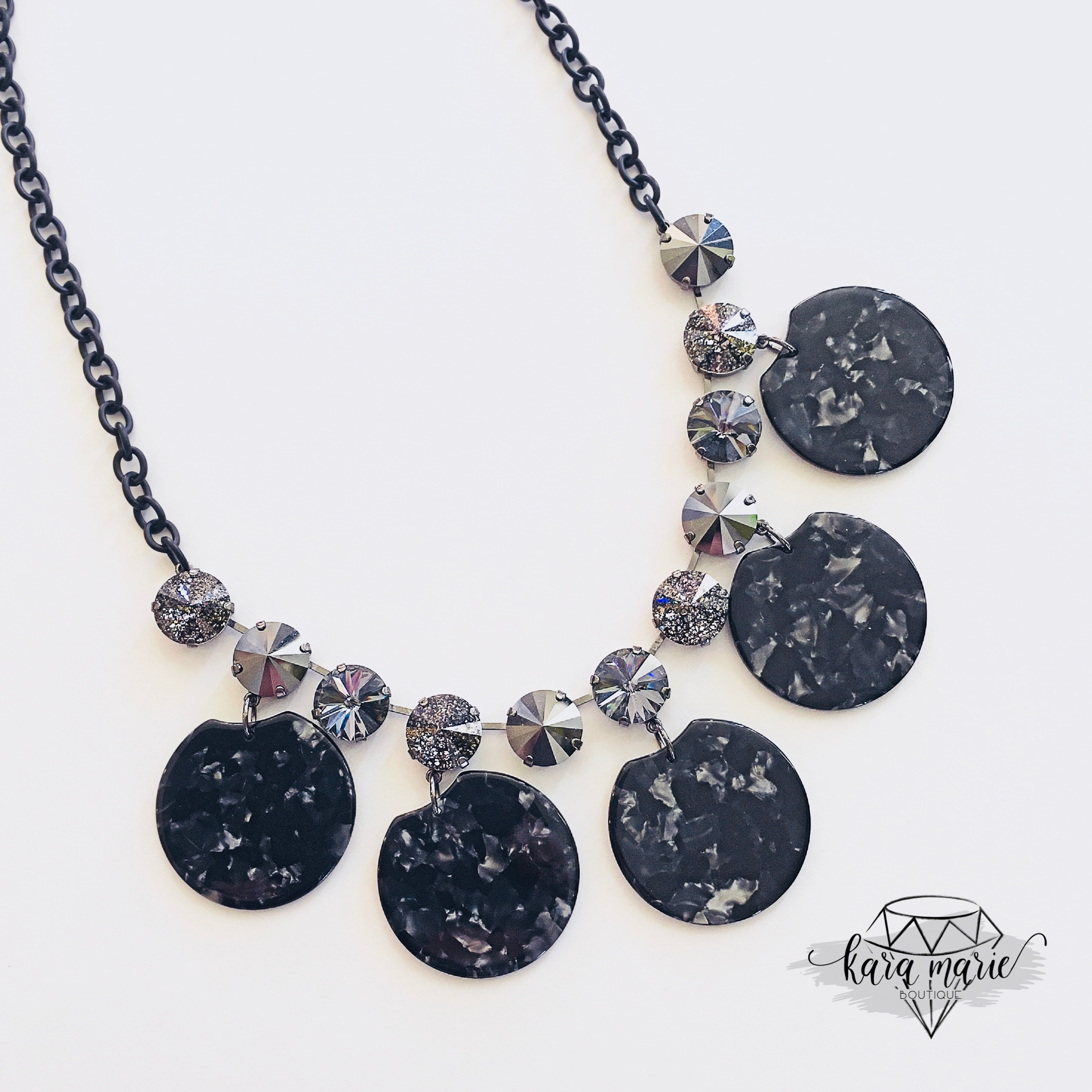 Dark Knight Statement Necklace - KaraMarie Boutique