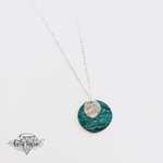 Load image into Gallery viewer, Green Marble Long Necklace - KaraMarie Boutique