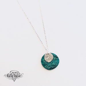 Green Marble Long Necklace - KaraMarie Boutique