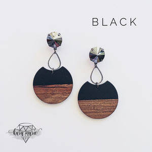 Wood Drop Earrings - Multiple Colors! - KaraMarie Boutique