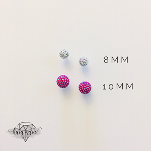 Sparkle Ball Post Earrings - TWO Sizes! Multiple Colors! - KaraMarie Boutique