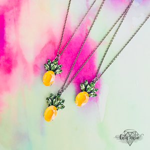 Pineapple Paradise Long Pendant Necklace - KaraMarie Boutique