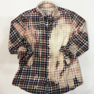 Small Bleached Vintage Flannel - One of a Kind - Franklin Flannel - Small