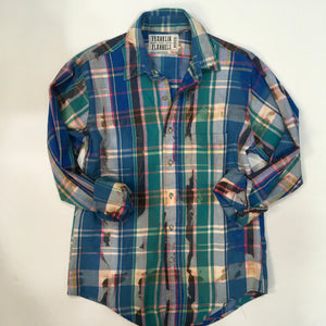 Medium Bleached Vintage Flannel - One of a Kind - Franklin Flannel - Medium